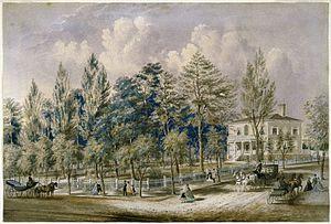 Frances Flora Bond Palmer - Samuel Fleet Homestead, Brooklyn, c.1850 Brooklyn Museum
