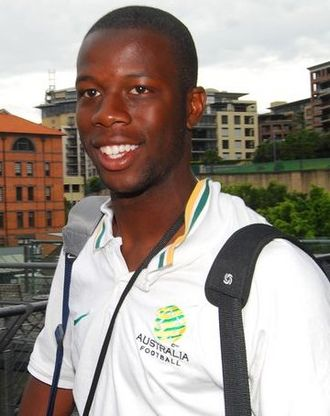 Bruce Djite - Bruce Djite with the Australia national football team