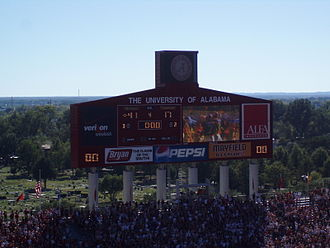 2007 Alabama Crimson Tide football team - Final scoreboard