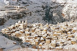 Bsharri under the snow
