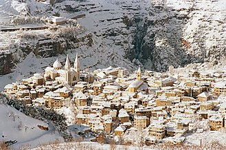 Bsharri - Bsharri under the snow