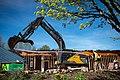 Building A demolition Chilliwack North-11 (25902129720).jpg