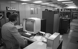 Electronic data processing - Electronic data processing in the Volkswagen factory Wolfsburg, 1973