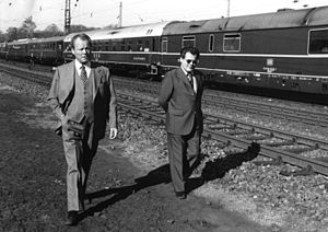 Günter Guillaume - Willy Brandt with Guillaume, 1974