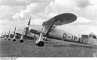Focke-Wulf Fw 56 Stösser 1933 military training aircraft family
