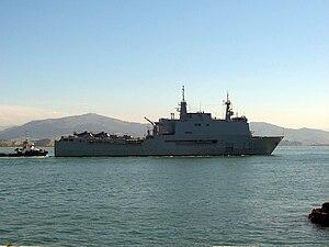 Galicia-class landing platform dock - Image: Buque de asalto anfibio(L 51) Galicia santander