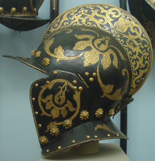 Burgonet type of light open helmet