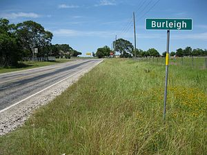 Farm to Market Road 331 - Image: Burleigh TX Sign