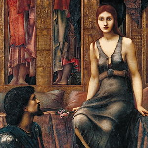 King Cophetua and the Beggar Maid (painting) - Image: Burne Jones Cophetua Beggar Maid GAP cropped hard