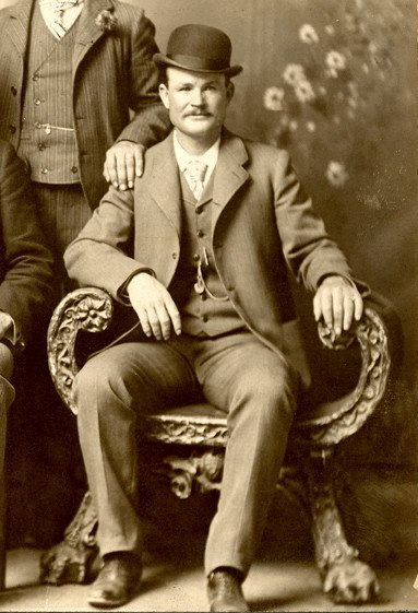 Butch Cassidy with bowler hat