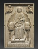 "Byzantium, Constantinople, Byzantine period - Ivory Plaque with Enthroned Mother of God (""The Stroganoff Ivory"") - 1925.1293 - Cleveland Museum of Art.tif"