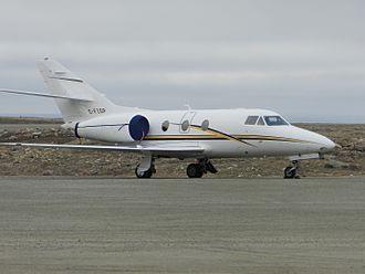 Air Nunavut - Air Nunavut's Dassault Falcon 10 at Cambridge Bay Airport