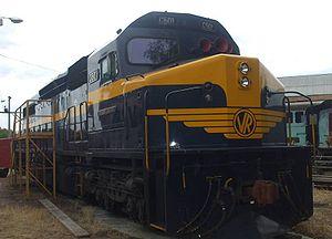 Seymour Railway Heritage Centre - Image: C501 on blocks Seymour loco