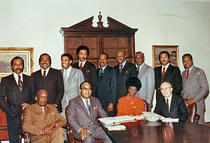 Charles Rangel - Rangel (second from left, top) with fellow founding members of the Congressional Black Caucus in 1971