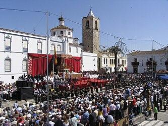 nuevo Virgen mamada cerca de Badajoz