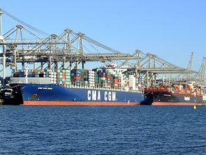 CMA CGM Norma & TsingTao Express, Port of Rotterdam, Holland, 06JAN2009 pic2.JPG