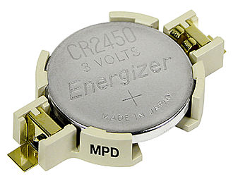 Lithium battery - Image: CR2450