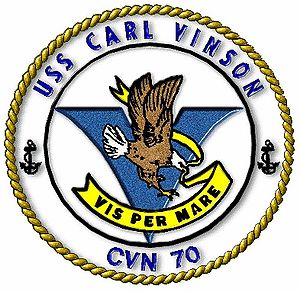 English: Seal of USS Carl Vinson (CVN-70). Fra...