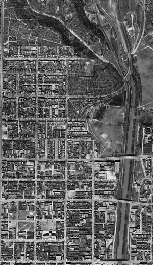 Cabbagetown, Toronto - Aerial Photograph of old Cabbagetown, 1942