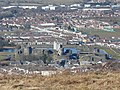 Caerphilly Castle viewed from afar - geograph.org.uk - 1762679.jpg