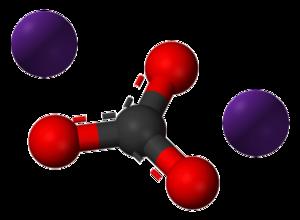 Caesium carbonate - Image: Caesium carbonate 3D Balls