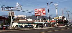 Roadside business in Devore along former historic U.S. Route 66 (Cajon Boulevard)