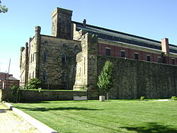 Cambria County Jail original and 1910 extension.JPG