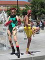 Cammy & Dhalsim cosplayers at FanimeCon 2010-05-30 4.JPG