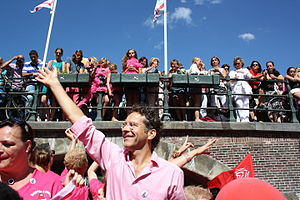 Jeroen Dijsselbloem - Dijsselbloem at the Amsterdam Gay Pride 2013