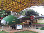 Canberra front at HAL Aerospace Museum HALMUS05.jpg
