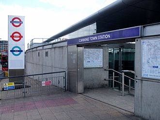 Canning Town station - Northern entrance to Canning Town