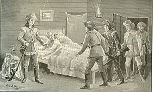 Illinois campaign - Rocheblave and his wife were captured while in bed. (Illustration by Edward Mason 1895)