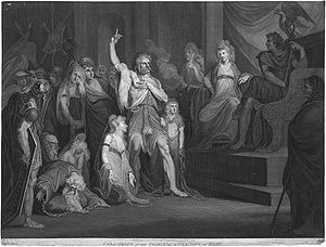 Caratacus - Andrew Birrell (after Henry Fuseli), Caractacus at the Tribunal of Claudius at Rome (1792)