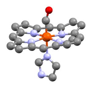 Carboxyhemoglobin - Image: Carboxyhemoglobin from 1AJ9