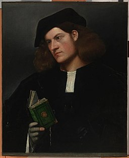 Cariani - Portrait of a Young Man with a Green Book, ca. 1510–1520