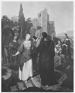 Carl Gottlieb Peschel - Eliezer and Rebecca at the Well