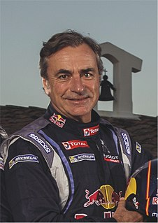 Carlos Sainz Spanish racing driver