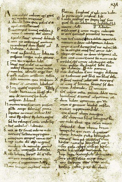 https://upload.wikimedia.org/wikipedia/commons/thumb/3/36/Carmina_Cantabrigiensia_Manuscr-C-fol436v.jpg/402px-Carmina_Cantabrigiensia_Manuscr-C-fol436v.jpg