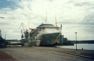 Carnival Miracle - Carnival Miracle under construction at Kvaerner Masa-Yards in Helsinki on June 16, 2003.