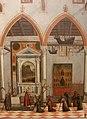 Carpaccio, visione del priore ottobon con l'apparizione dei crocifissi del M. Ararat nella chiesa di S.Antonio di Castello, 1515, 03.JPG