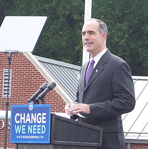 Bob Casey Jr. - Casey speaking at Abington High School in support of Sen. Barack Obama, October 2008