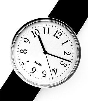 Achille Castiglioni - Castiglioni's watch designed for Alessi