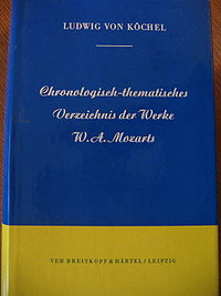 Köchel catalogue cover