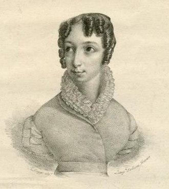 Otto mesi in due ore - Caterina Lipparini who created the role of Elisabetta in Otto mesi in due ore, Naples, 1827