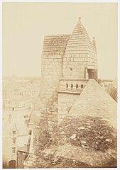 Photographie depuis une tourelle d'angle de la cathédrale de Nantes