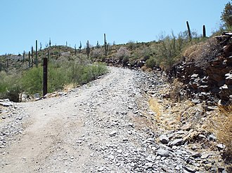 """Stoneman Military Trail - """"Stoneman Military Trail"""" in the Black Mountain of Cave Creek"""