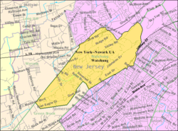Census Bureau map of Watchung, New Jersey