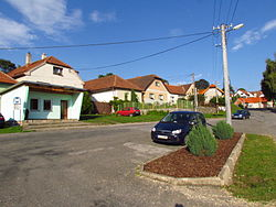 Center of Radošov, Třebíč District.JPG