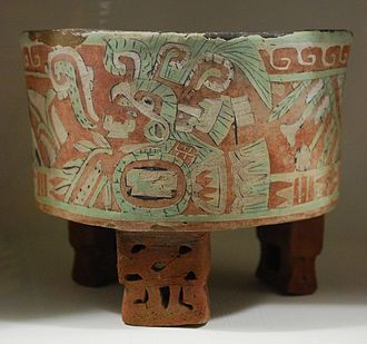 Mexican ceramics - Pre-Hispanic ceramic vessel on display at the Anahuacalli Museum in Mexico City