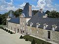 Château de Canisy - Vue du chateau depuis les chambres.JPG